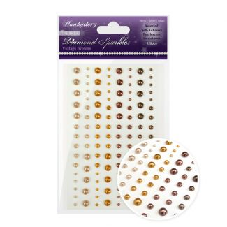 Diamond Sparkles Gemstones - Precious Pearls - Vintage Browns