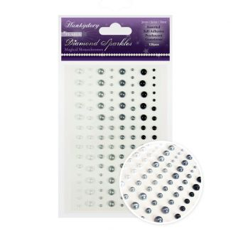 Diamond Sparkles Gemstones - Precious Pearls - Magical Monochromes