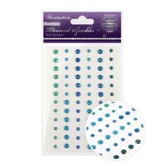 Diamond Sparkles Glitter Gemstones - Blue Sparkles