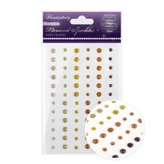 Diamond Sparkles Glitter Gemstones - Amber Sparkles