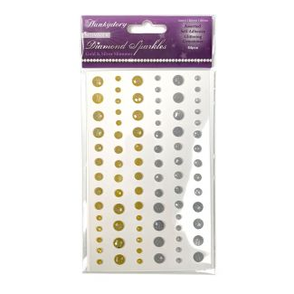 Diamond Sparkles Gemstones - Gold & Silver Shimmer