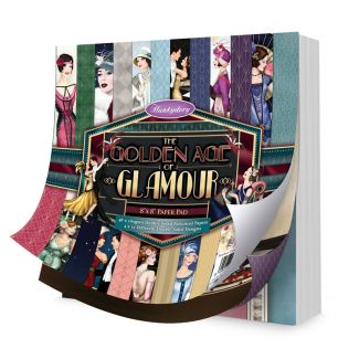 """The Golden Age of Glamour 8"""" x 8"""" Paper Pad"""
