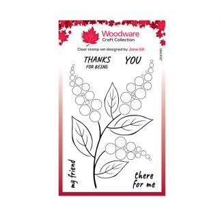 """Woodware Clear Stamp -  Bubble Bloom Ellie (6""""x 4"""")"""