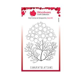 """Woodware Clear Stamp -  Bubble Bloom Carrie (6"""" x 4"""")"""