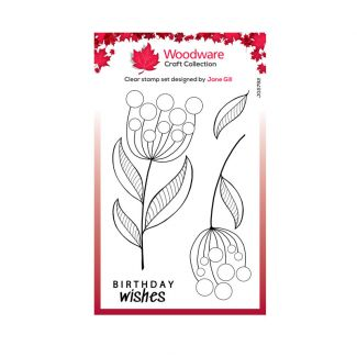 """Woodware Clear Stamp -  Bubble Bloom Jeanie (6"""" x 4"""")"""