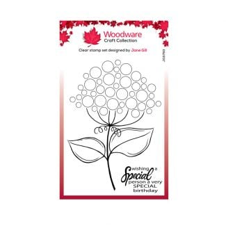 """Woodware Clear Stamp -  Bubble Bloom Suzie (6"""" x 4"""")"""