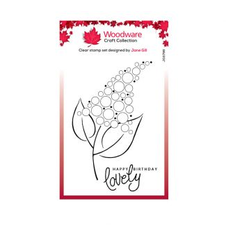 """Woodware Clear Stamp -  Bubble Bloom Fizzie (6"""" x 4"""")"""
