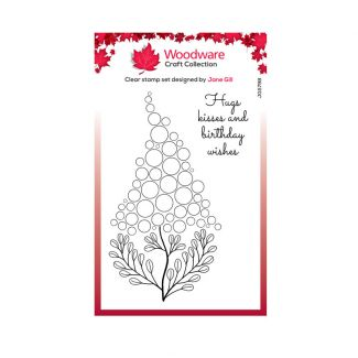 """Woodware Clear Stamp -  Bubble Bloom Betty (6"""" x 4"""")"""