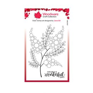"""Woodware Clear Stamp -  Bubble Bloom Millie (6"""" x 4"""")"""