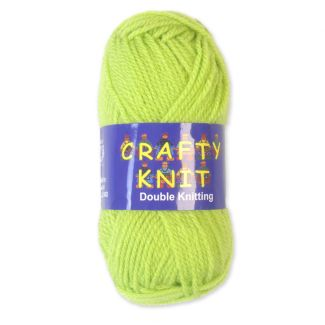 Crafty Knits Double Knitting Yarn - Lime