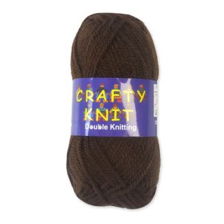 Crafty Knits Double Knitting Yarn - Brown