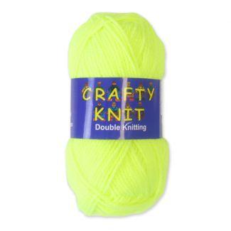 Crafty Knits Double Knitting Yarn - Neon Green