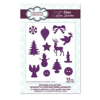 Stitched Collection Silhouette Christmas Embellishments