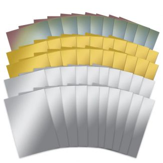 Mirri Card 50 x Sheets Megabuy - Silver, Gold & Rainbow