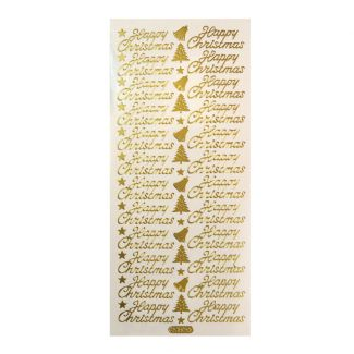 Peel-Offs - Happy Christmas Gold