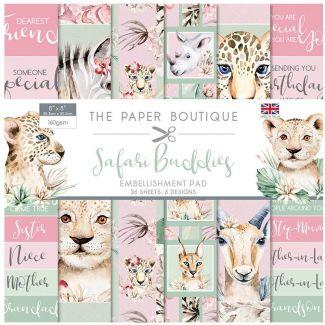 "The Paper Boutique Safari Buddies - 8"" x 8"" Embellishments Pad"