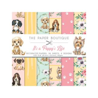 """The Paper Boutique It's a Puppy's Life 8"""" x 8"""" Paper Pad"""