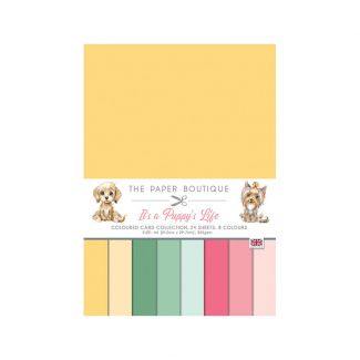The Paper Boutique It's a Puppy's Life A4 Colour Card Collection