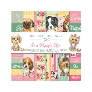 """The Paper Boutique It's a Puppy's Life 8"""" x 8"""" Embellishment Pad"""