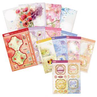 Paintdrop Florals Burst Open Concept Cards
