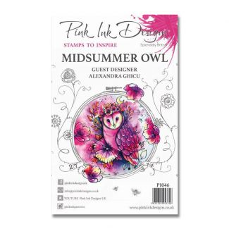 Pink Ink Designs A5 Clear Stamp - Midsummer Owl