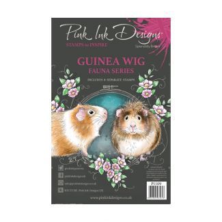 Pink Ink Designs Guinea Wig A5 Clear Stamp
