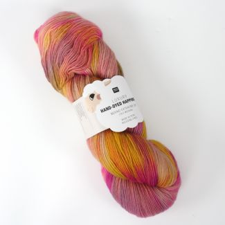 Hand-Dyed Happiness 100g - Salmon-Yellow