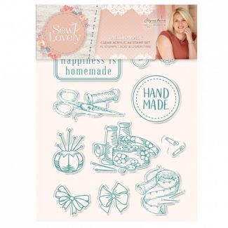 Sew Lovely - Clear Acrylic Stamp - Tailor-made