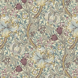 Morris & Co - Standen - Golden Lily Dusk (fat quarter)