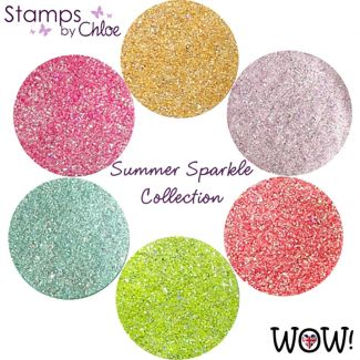 Stamps by Chloe Set of 6 WOW Embossing Glitters - Summer Sparkle