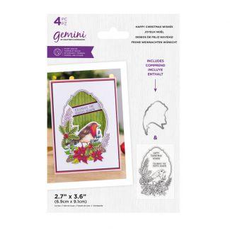 Gemini - Stamp & Die - Happy Christmas Wishes