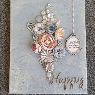 8th March - Susan Lees - Flower Canvas