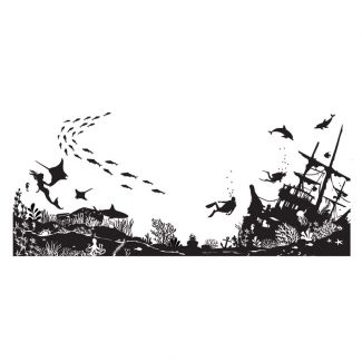 Designer Boutique Collection - Treasures of the Sea DL Pre Cut Rubber Stamp
