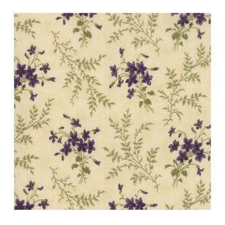 Moda Sweet Violet - Violet Ferns Ivory