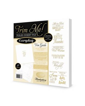 Trim me! Foiled Insert Pad - Everyday Gold