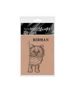 It's A Cat's Life Clear Stamp - Birman