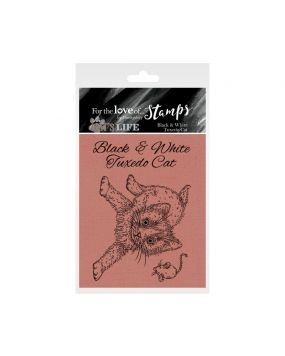 It's A Cat's Life Clear Stamp - Black & White Tuxedo