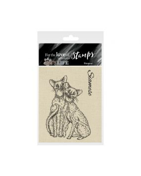 It's A Cat's Life Clear Stamp - Siamese