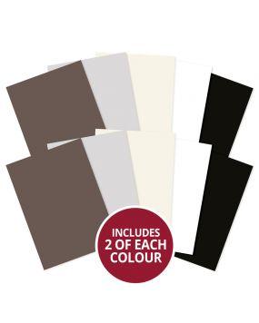 Adorable Scorable A4 Cardstock x 10 sheets - Monochromes