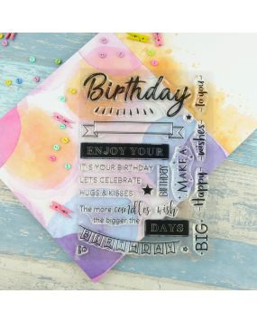 For the Love of Stamps A5 Stamp Set - Birthday Wishes
