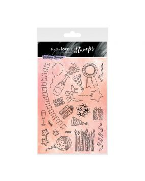 For the Love of Stamps A5 Stamp Set - Party Pieces