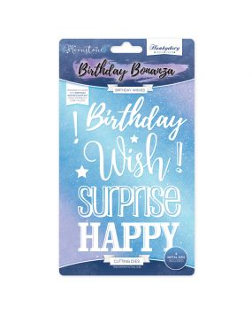 Moonstone Cutting Dies - Birthday Wishes