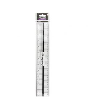 Premier Tools - Decimal Inch Ruler with Metal Edge