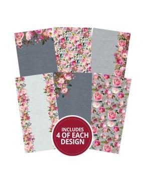 "Floral Watercolours 6""x6"" - Design Essentials Card Blanks & Envelope Pack"