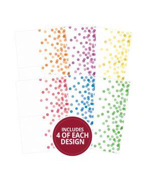 "Confetti Dots 7""x5"" - Design Essentials Card Blanks & Envelope Pack"