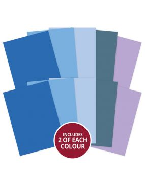 Adorable Scorable A4 Cardstock x 10 sheets - Blue Shades (2021-2022)