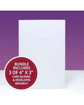 "4"" x 3"" Card Blanks & Envelopes Megabuy"