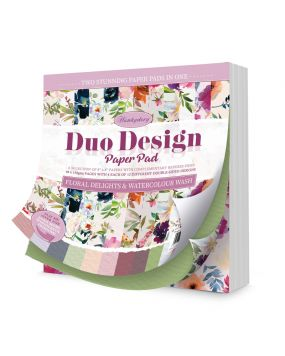 Duo Design Paper Pad - Floral Delights & Watercolour Wash