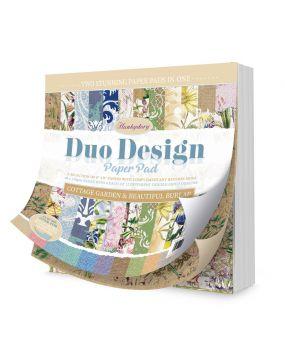 Duo Design Paper Pad - Cottage Garden & Beautiful Burlap