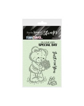 For the Love of Stamps - Teddy Loves... Flowers